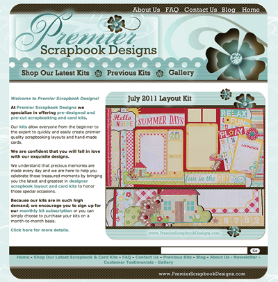 Scrapbook Kit Club Web Design Scrapbook Businesses Website Portfolio